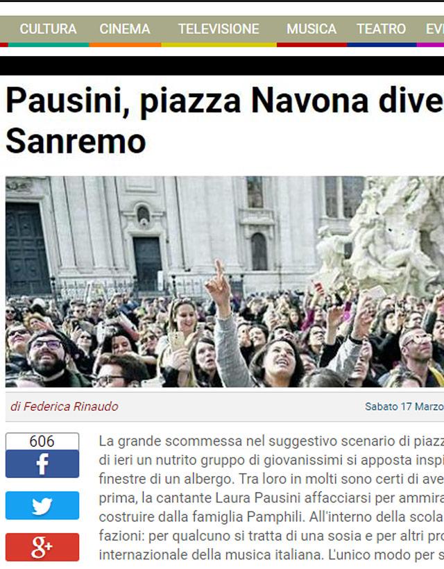 Laura Pausini a piazza Navona